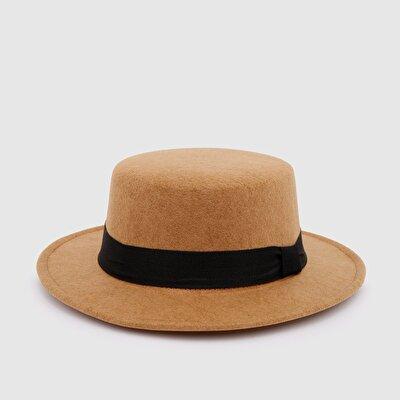 Resim Kemerli Bowler Şapka