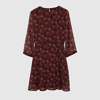 Resim Sırtı Açık Elbise