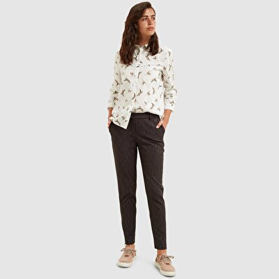 Zipper Detailed Trousers