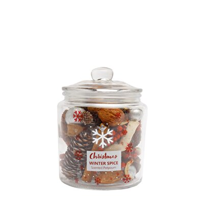 Picture of Christmas Potpourri in Glass Jar ( 11 X 11 X 15 Cm )