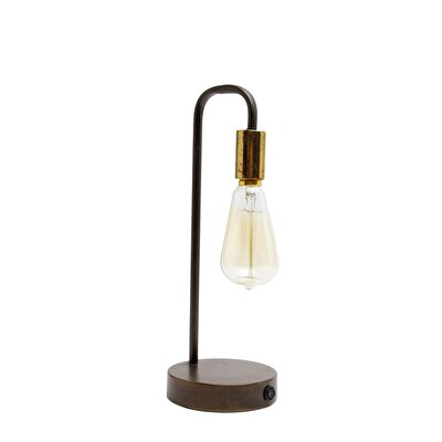 Metal Table Lantern With Batteries ( 13 X 35 Cm )