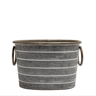 Picture of Metal Flower Pot ( 30,7 X 21 X 20,3 Cm )