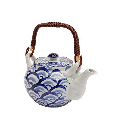 Handmade Ceramic Teapot Set ( 14 X 20 X 18 Cm )