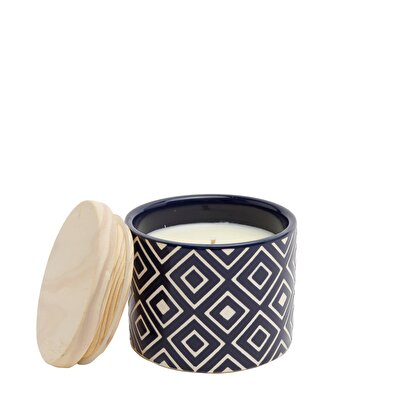 Wooden Lid Candle ( 9 X 9 X 8 Cm )
