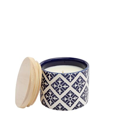 Picture of Wooden Lid Candle ( 9 X 9 X 8 Cm )