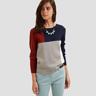 Color Blocking Long Sleeved Tricot