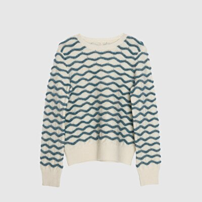 Teztured Knitted Long Sleeve Tricot