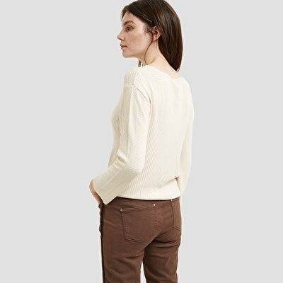 Pointelle Detailed 3/4 Sleeve Knitwear