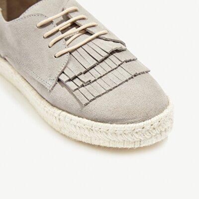 Resim Püsküllü Süet Deri Ayakkabı