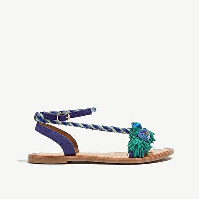Resim Parmakarası Deri Sandalet