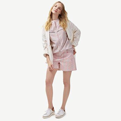 Shorts mit Seemannsverschluss und Taschen