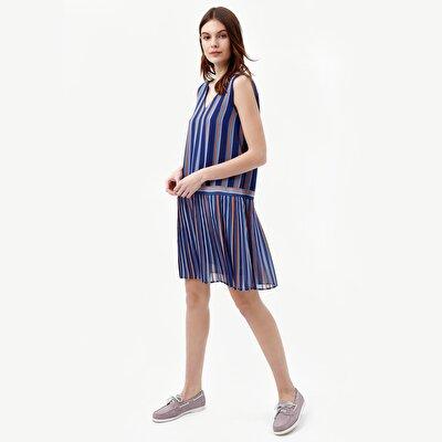 Sommerkleid mit Rücken V-Ausschnitt