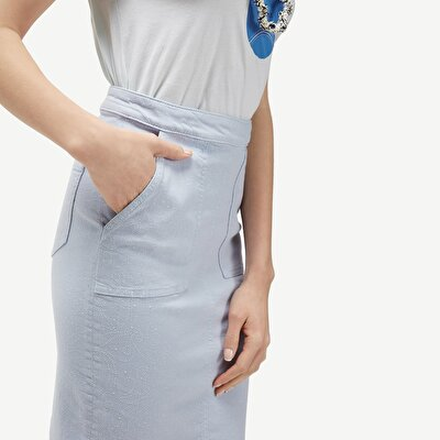 Slit Detail Pencil Skirt