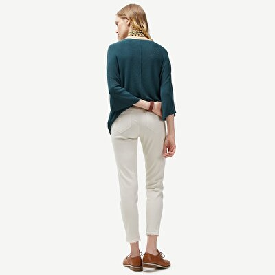Resim Kısa Paçalı Skınny Pantolon