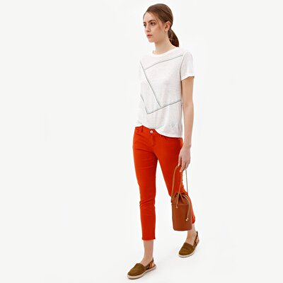 Picture of 5 Pocket Raw Edge Hem Trousers