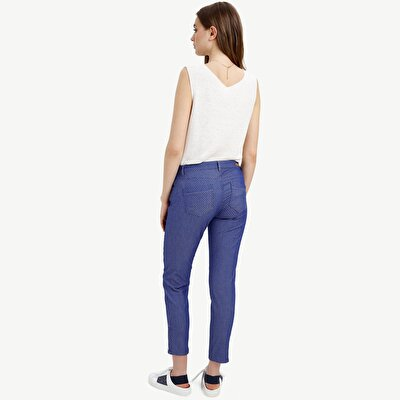 Picture of Jacquard Ankle Zip Detailed 5 Pocket Pants