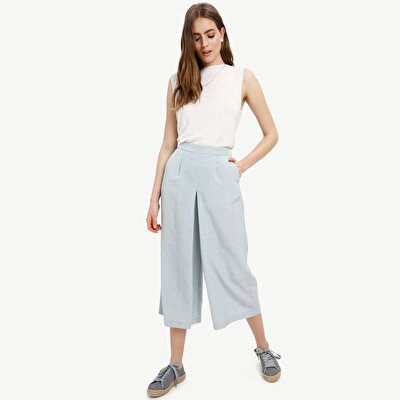 Picture of Box Pleated Palazzo Trousers