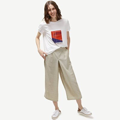 Box Pleated Palazzo Trousers