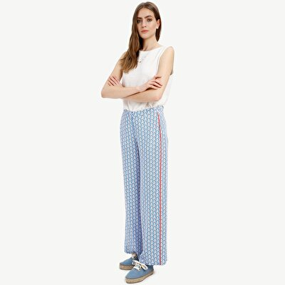 Picture of Wide Leg Trousers With Piping Detail