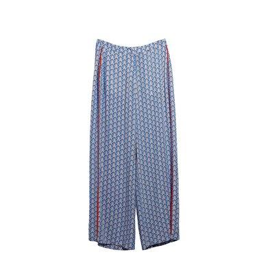 Resim Bol Paça Biye Detaylı Pantolon