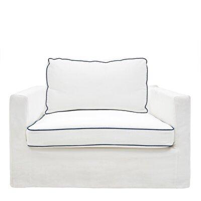 Stoff Couch mit Nähten ( 1250 x 1100 x 660 cm )