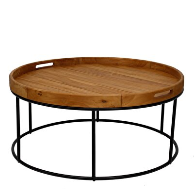 Teak Round Table ( 90 X 45 Cm )