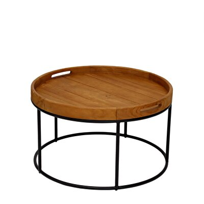 Picture of Teak Round Table  ( 70 X 45 Cm )