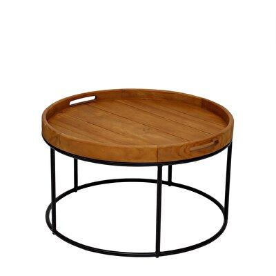 Teak Round Table ( 70 X 45 Cm )