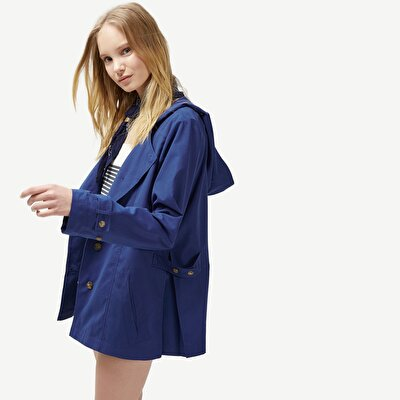 Picture of Placket Detailed Raincoat