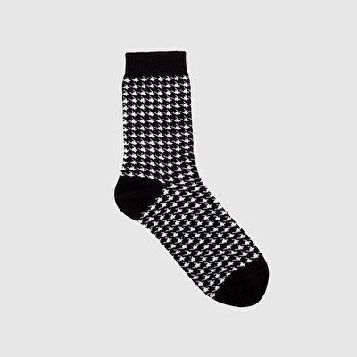 Resim Kazayağı Desen Çorap