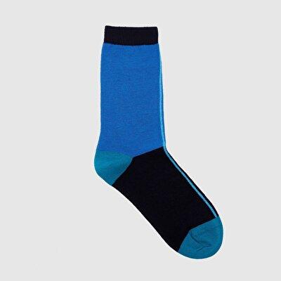 Resim Renk Bloklu Çorap