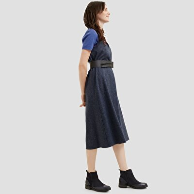 Resim Kemerli Elbise