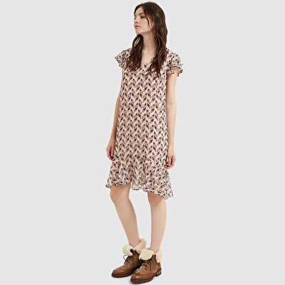 Resim V Yakalı Elbise