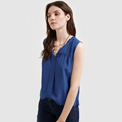 Picture of Sleeveless Frill Detailed Blouse