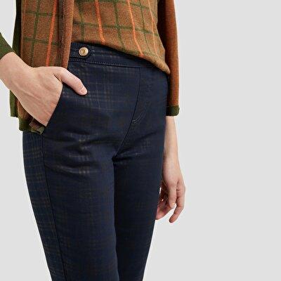 Resim Kapaklı Cepli Kemeri Detaylı Pantolon