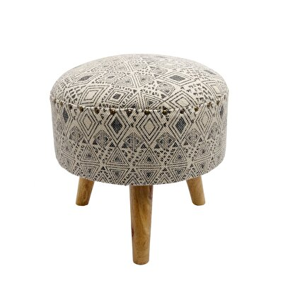 Picture of Wooden Round Stool ( 40 X 40 X 40 Cm )