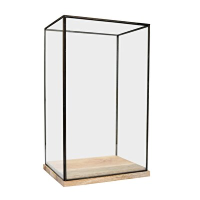 Decorative Glass Cabinet ( 26 X 33 X 52 Cm )