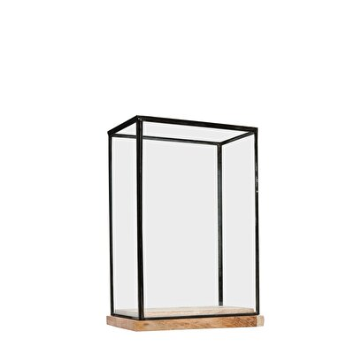 Decorative Glass Cabinet ( 14 X 22 X 31 Cm )