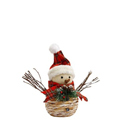 Decorative Snowman ( 13 X 34 X 34 Cm )