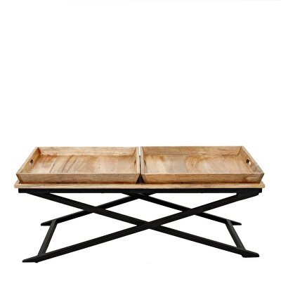 Picture of Console Side Table With Two Trays ( 43 X 117 X 88 Cm )