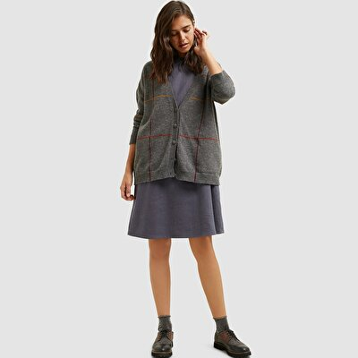 Picture of Oversized Checked Cardigan