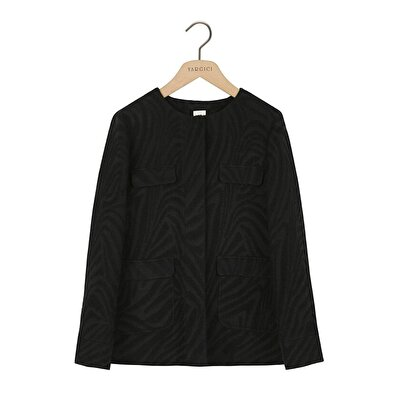 Picture of Round Neck Coat With Pockets
