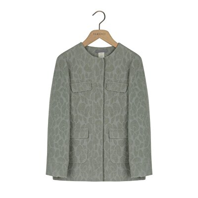 Round Neck Coat With Pockets