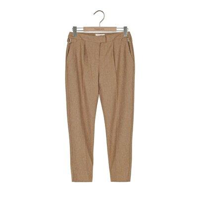 Resim Tek Plili Klasik Pantolon