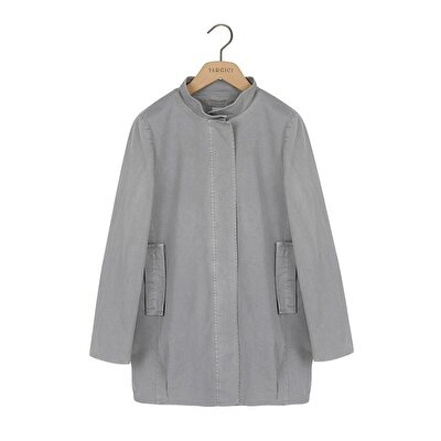 Trench Coat With Stand Collar