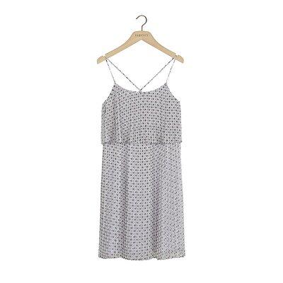 Resim Pliseli Askı Detaylı Elbise