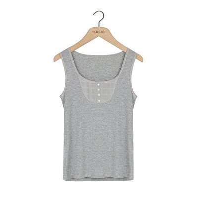 Picture of Tank Top With Button Detail