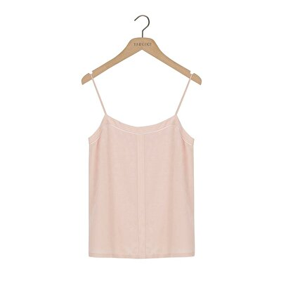 Picture of Woven Tank Top With Piping Detail