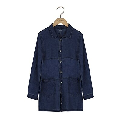 Picture of Shirt Collar Loose Fit Trench