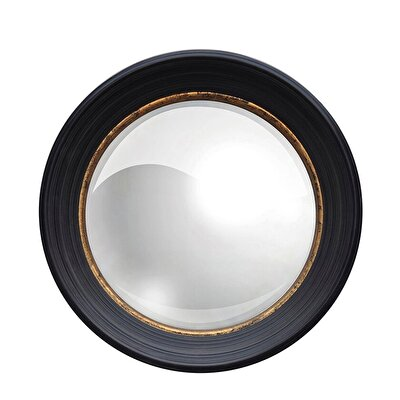 Picture of Convex Mirror With Wooden Frame (37 Cm)